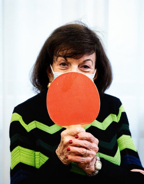 Marcia Bosseler, 85, is back to playing Ping-Pong — and beating all the men, she says — at her apartment complex in Coral Gables, Fla.