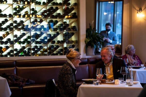 """Diners at Frasca Food and Wine in Boulder, Colo. """"Every night we are seeing another couple or a pair of couples in the dining room, and they feel so much relief,"""" said Bobby Stuckey, the owner."""